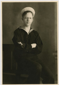 Rudy Vallee in Coast Guard Uniform